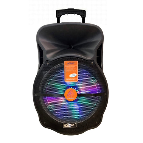 CRONY CN-18C 12inch Plastic Professional Active Speaker With one wirelessmic battery trolley bluetooths speaker