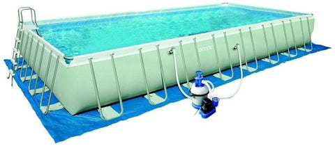 Intex Rectangular Ultra Metal Frame Pool Set - 28372 swimming pool (975x488x132) - edragonmall.com