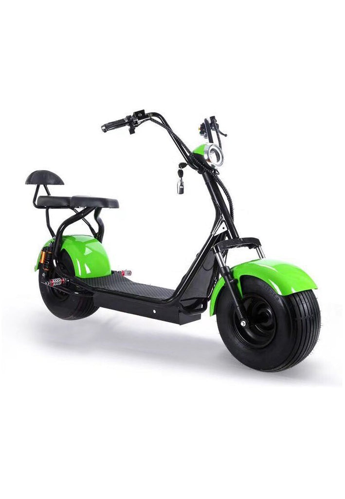 Harley 60v Electric Scooter Motorcycle With Big Wheels Double Seats