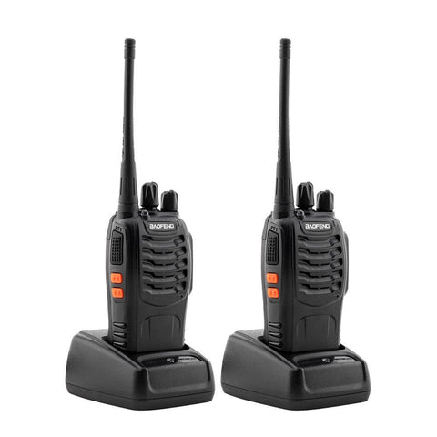 2 Pcs Walkie Talkies BF-888S Baofeng Handheld Two Way Radios Battery and Charger