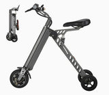 Fashion Two Wheels Electric Folding Bicycle, 36V Lightweight Small Electric Bike 13.5kg E-Bike -H9-3 -Grey
