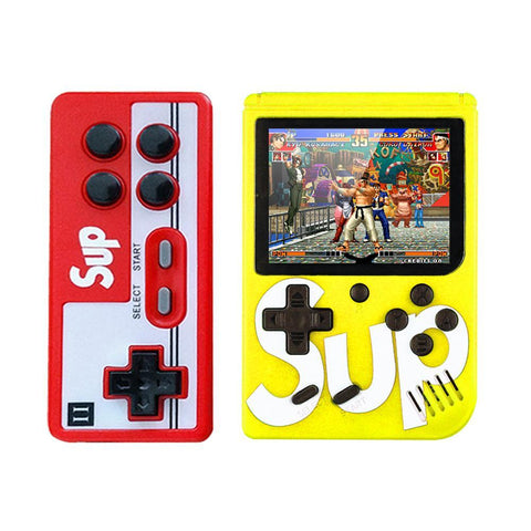 Sup Game Box 400 in 1 Plus Gaming console Double gaming machine- YELLOW