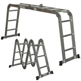 Multi Purpose Aluminum Ladder Folding Step Ladder Extendable Heavy Duty 4X4X4.7M