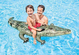 Tricky toys Intex Realistic Gator Ride-one, Age 3+, Multi-color, 6x67x34 inches