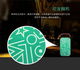 Dossds-1563 Bluetooth Audio Good Sound Mobile Handle Portable Home Nylon Net Wireless Card Speaker Green - edragonmall.com