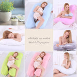 Pregnancy Pillow Support Full Body | U-Shaped Maternity Pillow For Sleeping With Nursing Baby Design | Zipper Removable With Cotton Cover (Free, White)