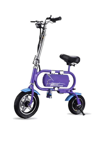 T1 Smart Electric Bike, 36V 8A Lithium Battery 12 Inch Wheels, Aluminum Alloy + Magnesium Alloy Frame -Purple