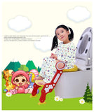 Toilet Ladder Potty Training Seat Child Potty Non-Slip with Splash Guard Toilet Seat for Boys and Girls Portable Toilet Seat for Children Aged 1-7 Non-Slip