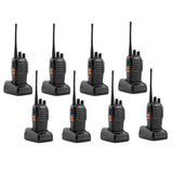 8 Pcs Walkie Talkies BF-888S Baofeng Handheld Two Way Radios Battery and Charger