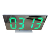 Electronic LED Alarm Clock, Digital Clock Shows Date Temperature, Bedroom Office Decoration Mirror Clock -DS-3618L