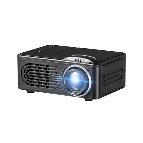 Mini Battery Projector, LCD Display LED Portable Projector, Home Theater Cinema USB Children Video Media Player -RD-814 -Black