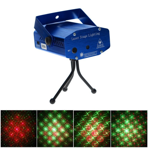 S09A R & G Super Mini Projector DJ Disco LED Light Stage Party Laser Lighting Show Plug
