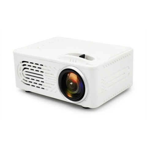 Mini Battery Projector LCD Display LED Portable Projector RD-814 Home Theater Cinema LED USB Children Child Video Media Player-WHITE