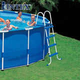 Intex Round Metal Frame Pool, 549x122cm, Big Swimming Pool for Party, Easy Set Outside Swimming Pool -56952