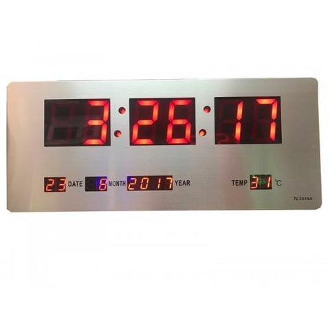 Slim Led Clock TL-3515A (RED)
