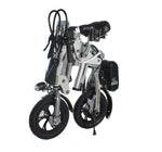 R12 36V 6A Lithium Battery Aluminum Alloy Folding Bicycle for Adults, Lightweight Aluminum Frame -Silver