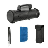 10X42 High Power BAK4 Prism Monocular Portable Compact Waterproof Fogproof Outdoor Spotting Scope Telescope for Birdwatching Camping Traveling - edragonmall.com