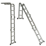 Multi Purpose Aluminum Ladder Folding Step Ladder Extendable Heavy Duty 4X5X5.7M