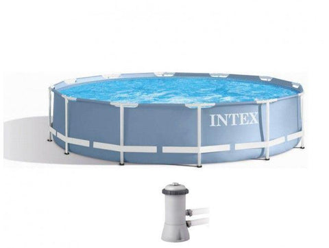 INTEX Prism Frame Pool (366 x 76 cm) -28712 with filter pump - edragonmall.com
