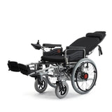 Cn-6005 Electric wheelchair with flatlay Fully Lying Backrest Electric Wheelchair Portable Elderly Automatic Medical Scooter Manual/Electric Switching
