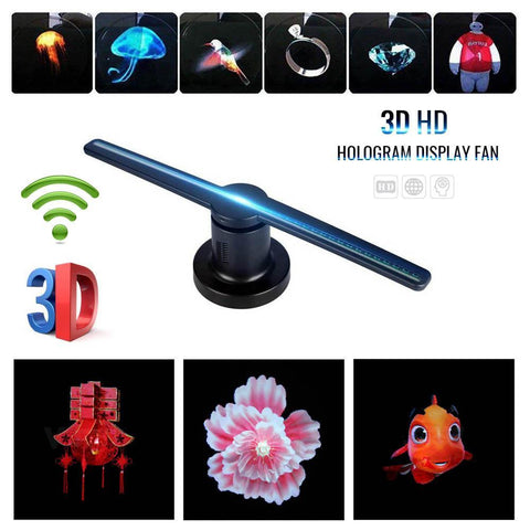 "3D 42"" Hologram Fan Advertising Display Holographic Imaging Naked Eye Fan"