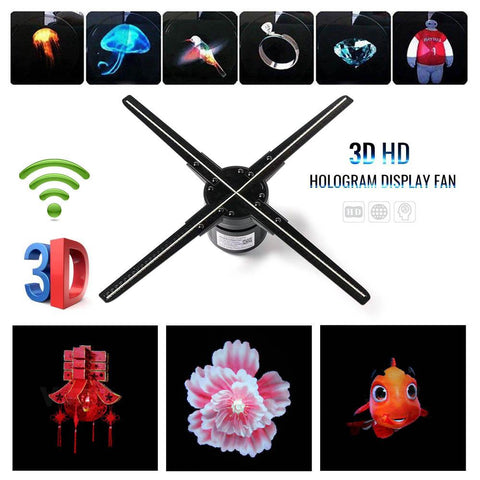 5D Hologram Advertising Display With APP WIFI Advertising Display Holographic Imaging Naked Eye Fan