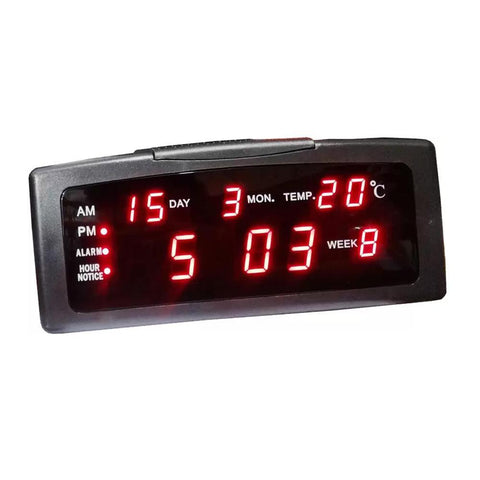 Digital LED Table Clock Wall Clock Office Clock Shows Time, Date, Day, Temperature -ZXTL-13A clock - edragonmall.com