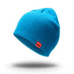The Gsou Snow Knit Skull Cap Unisex Reversible Beanie Hat For Men and Women-Blue