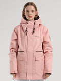 Womens Pink Ski Jacket 15K Windproof and Waterproof Snowboard Jackets