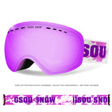 Gsou Snow Ski Goggles - Over Glasses Ski / Snowboard Goggles for Men, Women & Youth - 100% UV Protection