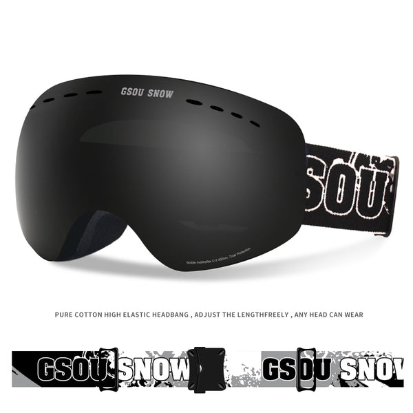 Gsou Snow Ski Goggles For Snowboard Snowmobile Skate - Anti Fog UV Protection OTG Over Glasses