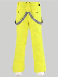 Men's Yellow Highland Bib Waterproof Ski Snowboard Pants