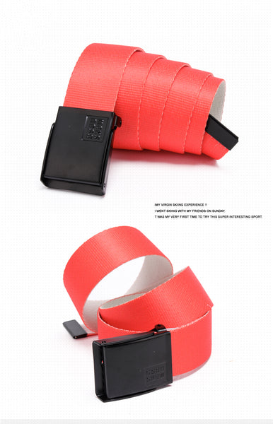 Gsou Snow Fashion Reversible Web Belt Outdoor Orange Belt