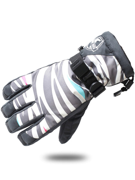 Gsou Snow Women's Ski Snowboard Snowmobile Gloves Winter Gloves Windproof Outdoor Sports Gloves