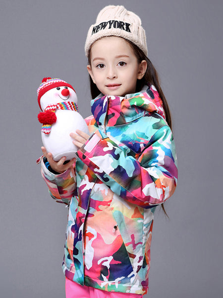 Snow Winter Kids Colorful Ski Jackets Windproof Waterproof Snowboard Jackets