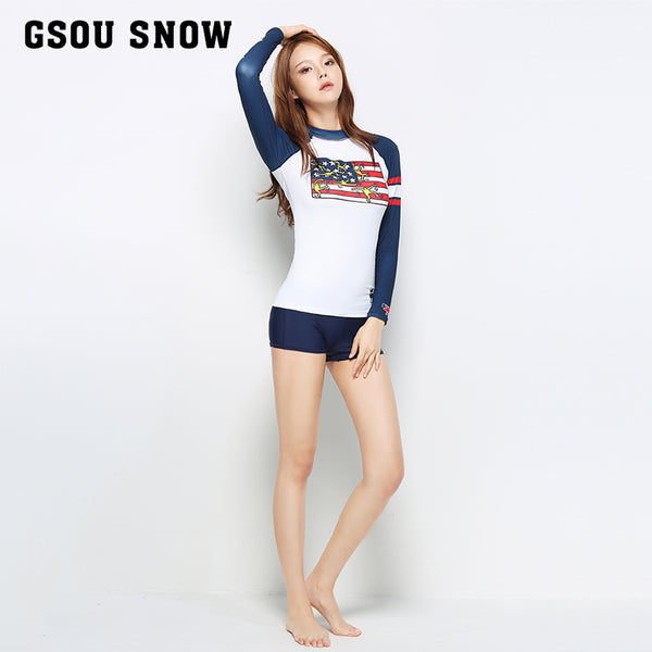 Gsou Snow Women's Blue wetsuit - Shorts Surfing Swimming Snorkeling
