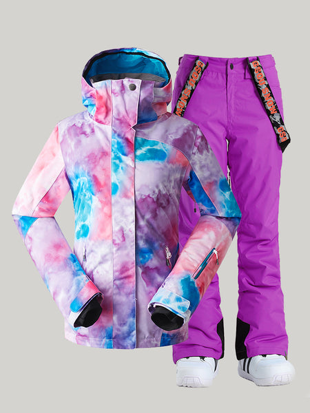 Winter women's suits, ski suits, machine washable YKK® zipper