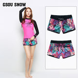 Gsou Snow Women's Fashion Printed Casual Quick-drying Beach Shorts