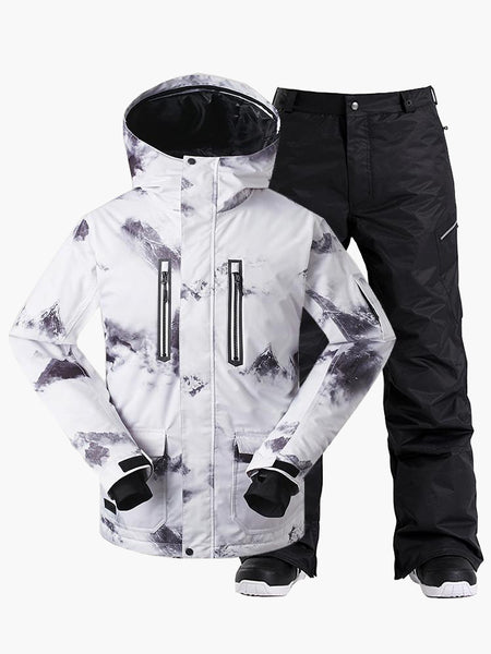 Gsou Snow Men's Colorful Ski Jacket Suits
