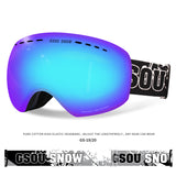 Gsou Snow Ski Goggles , Snowmobile Skate Goggles for Men & Women - Anti-Fog ,100% UV Protection