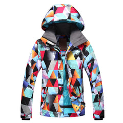 Gsou Snow Brand Womens Colorful Ski Jacket Waterproof Snowboard Jacket Front