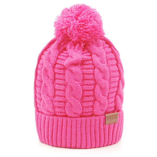Gsou Snow Trendy Warm Soft Cable Knit Slouchy Beanie