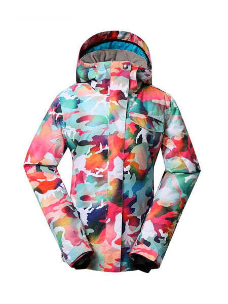 Womens Winter Snowboard Jacket.Environmentally friendly degradable fabric.10K Waterproof/10K Breathable . Product is machine washable.