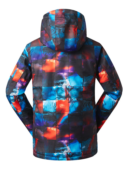 Gsou Snow Men's High Windproof Technology Colorfull Printed Snowboard&Ski Jacket Wear
