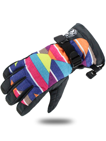 Gsou Snow Waterproof Women Winter Ski Snowboard Snow Warm Gloves