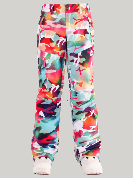 Gsou Snow Colorful Thermal Warm High Waterproof Windproof Women's Snowboard/Ski Pants