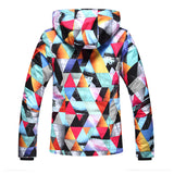 Gsou Snow Brand Womens Colorful Ski Jacket Waterproof Snowboard Jacket Back