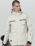 High Experience Men's High Quality White Winter Fashion Jacket 15k Waterproof Ski Snowboard Jacket