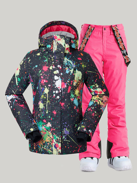 Winter women's suit, ski suit, windproof, waterproof, warm