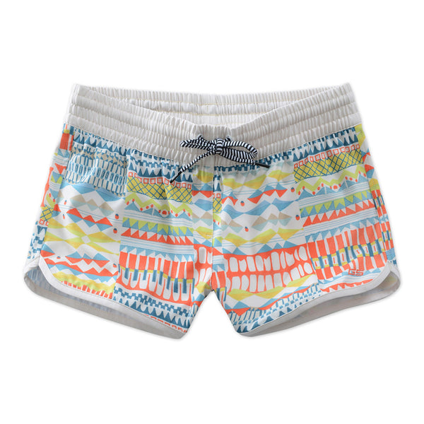 Gsou Snow Women Printed Casual Quick-Drying Beach Shorts Surf Snorkel Front